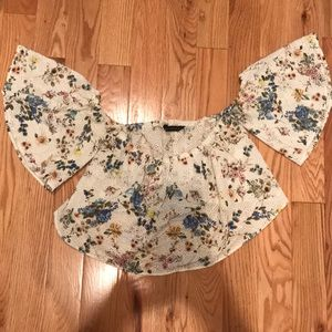 ZARA off the shoulder crop